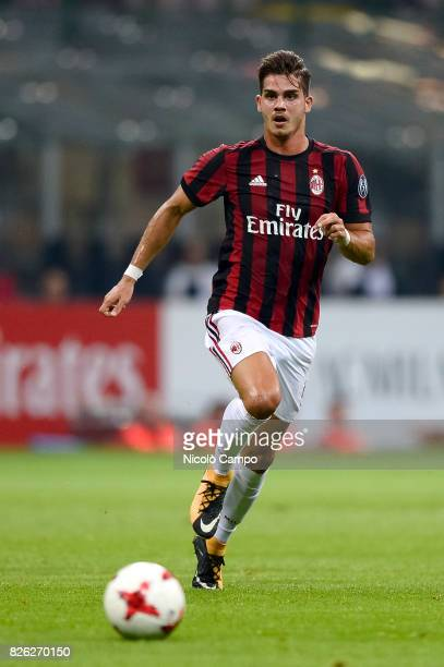 Andre Silva of AC Milan in action during the UEFA Europa League qualifier football match between AC Milan and CSU Craiova AC Milan wins 20 over CSU...