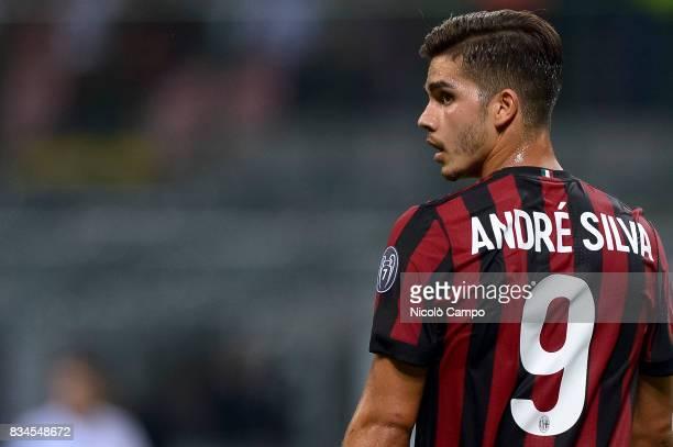 Andre Silva of AC Milan looks on during the UEFA Europa League Qualifying PlayOffs Round First Leg match between AC Milan and KF Shkendija AC Milan...
