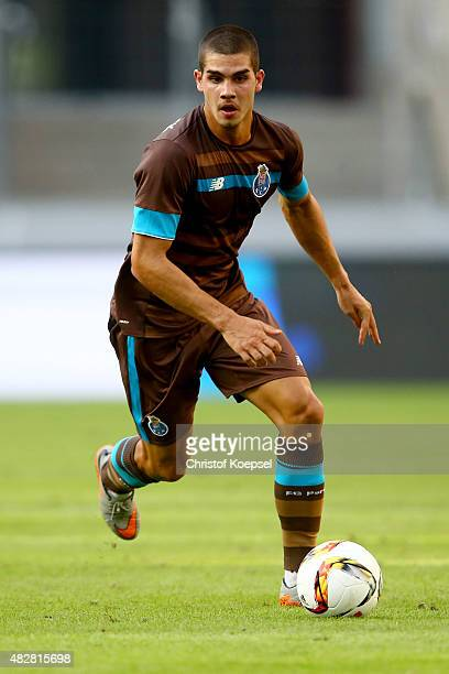 Andre Silva of Porto runs with the ball during the Colonia Cup 2015 match between FC Porto and Stoke City FC at RheinEnergieStadion on August 2 2015...