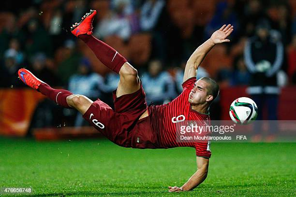 Andre Silva of Portugal attempts a shot on goal during the FIFA U20 World Cup New Zealand 2015 Round of 16 match between Portugal and New Zealand at...