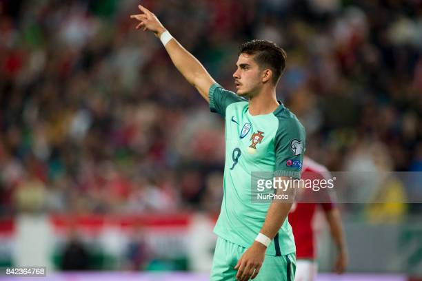 Andre Silva of Portugal during the FIFA World Cup 2018 Qualifying Round match between Hungary and Portugal at Groupama Arena in Budapest Hungary on...