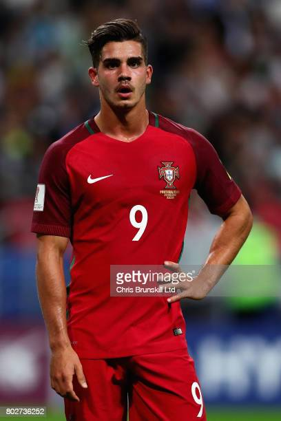 Andre Silva of Portugal in action during the FIFA Confederations Cup Russia 2017 SemiFinal between Portugal and Chile at Kazan Arena on June 28 2017...