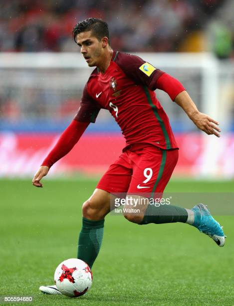 Andre Silva of Portugal in action during the FIFA Confederations Cup Russia 2017 PlayOff for Third Place between Portugal and Mexico at Spartak...
