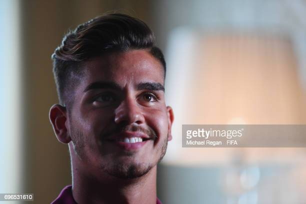 Andre Silva of Portugal is interviewed on June 16 2017 in Kazan Russia