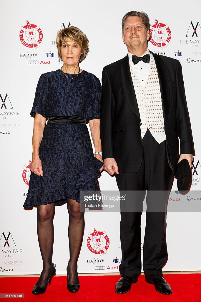 Andre Singer and Lynette Singer attends The London Critics' Circle Film Awards at The Mayfair Hotel on January 18 2015 in London England