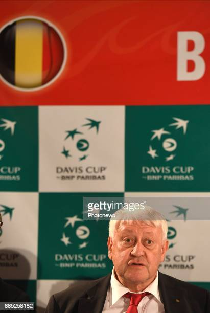 Andre Stein president of Belgian tennis federation pictured during the draw of Davis Cup World quarterfinal match between Belgium and Italy in the...