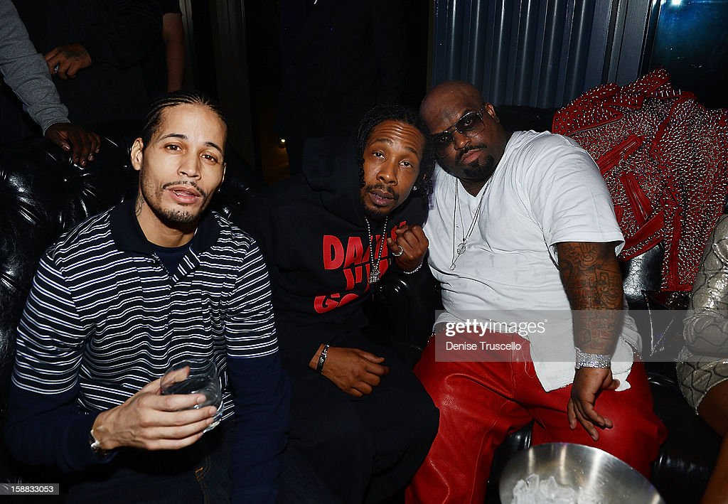 Andre Truth (R) and CeeLo Green (R) attends Chateau Nightclub in Las Vegas for New Year's Weekend on December 30, 2012 in Las Vegas, Nevada.