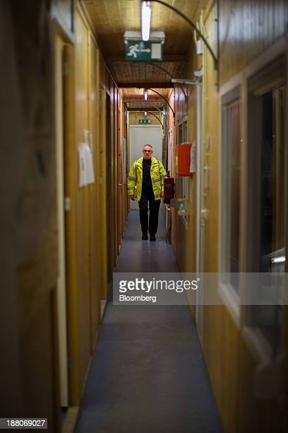 Andre van Krieken a 69yearold employed via specialist seniors recruitment company 65plus walks down a corridor at the offices of the Spoorzone Delft...