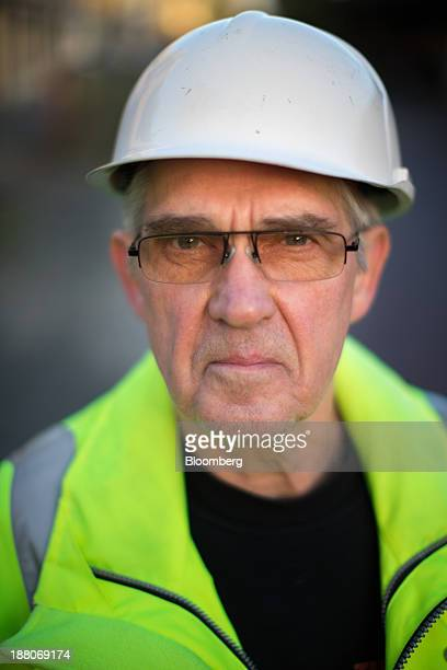 Andre van Krieken a 69yearold employed via specialist seniors recruitment company 65plus poses for a photograph as he works on the Spoorzone Delft...