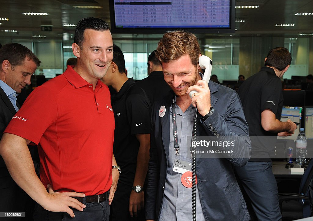 Andre Villas-Boas attends the BGC Partners charity day at Canary Wharf on September 11, 2013 in London, England.