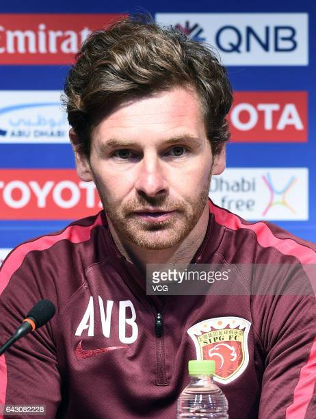 Andre VillasBoas attends the press conference of Shanghai SIPG FC ahead of AFC Champions League 2017 group match against Western Sydney Wanderers FC...