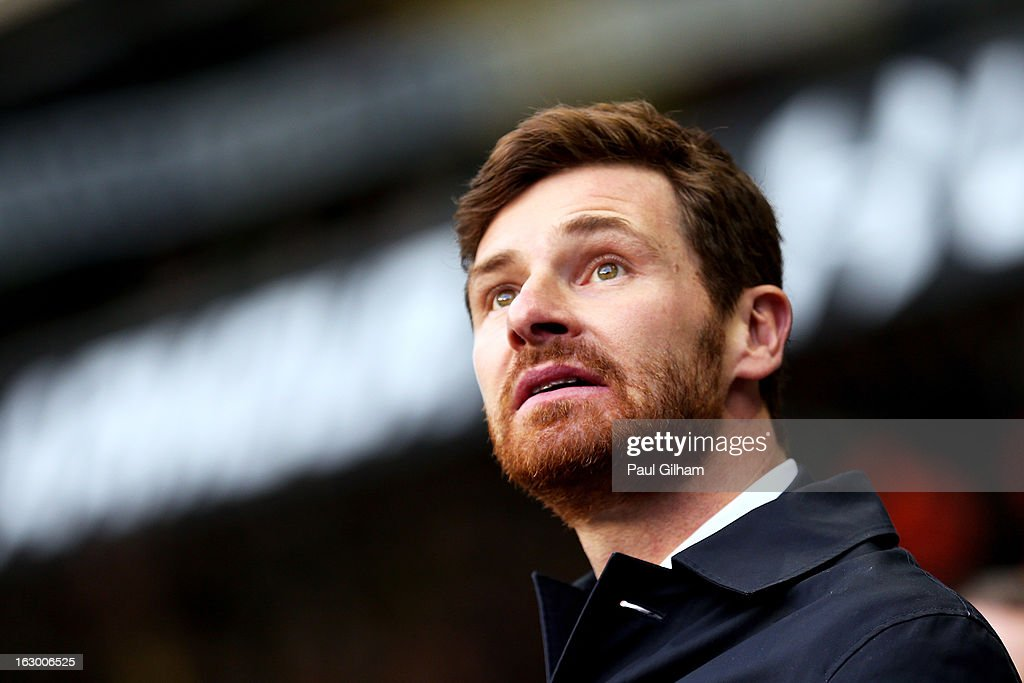 Andre Villas-Boas the Spurs manager looks on during the Barclays Premier League match between Tottenham Hotspur and Arsenal FC at White Hart Lane on March 3, 2013 in London, England.