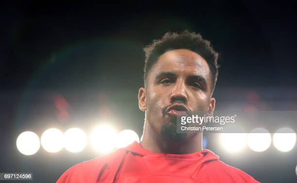 Andre Ward arrives for his light heavyweight championship bout against Sergey Kovalev at the Mandalay Bay Events Center on June 17 2017 in Las Vegas...