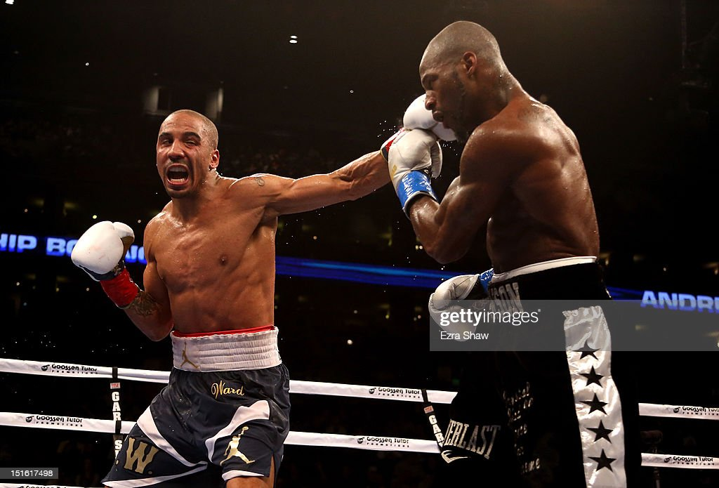 <a gi-track='captionPersonalityLinkClicked' href=/galleries/search?phrase=Andre+Ward&family=editorial&specificpeople=217398 ng-click='$event.stopPropagation()'>Andre Ward</a> hits <a gi-track='captionPersonalityLinkClicked' href=/galleries/search?phrase=Chad+Dawson&family=editorial&specificpeople=4026852 ng-click='$event.stopPropagation()'>Chad Dawson</a> in the 7th round of their WBA/WBC Super Middleweight championship fight at ORACLE Arena on September 8, 2012 in Oakland, California. Ward won by TKO in the 10th round.