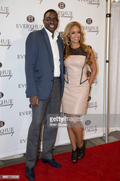 Andre Wells and Gizelle Bryant attend Every Hue Beauty PopUp at The Showroom on October 25 2017 in Washington DC
