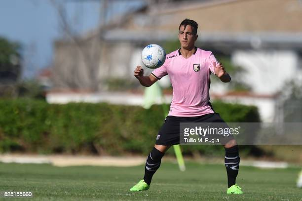 Andrea Accardi of Palermo in action during a friendly match between US Citta' di Palermo and Monreale at Carmelo Onorato training center on July 30...