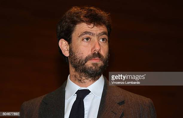 Andrea Agnelli attends the Financial Fairplay Europe Italy Workshop on January 12 2016 in Milan Italy