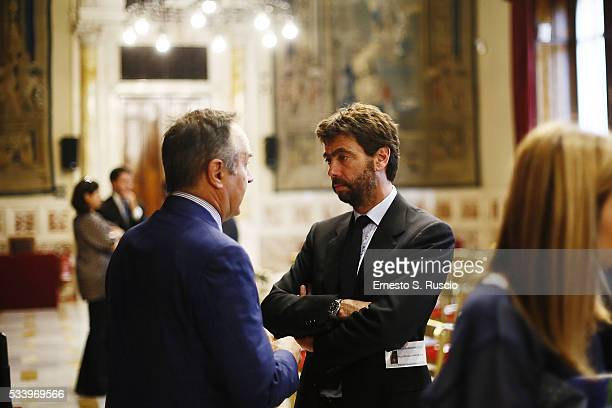 Andrea Agnelli attends the Italian Football Federation Annual Report at Palazzo Montecitorio on May 24 2016 in Rome Italy