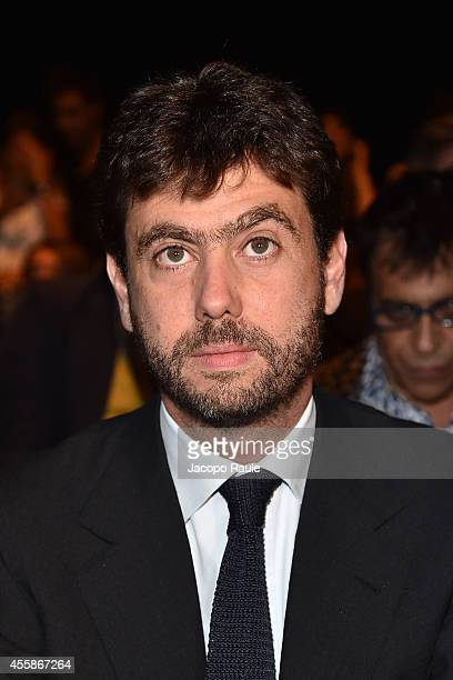 Andrea Agnelli attends Trussardi Fashion Show during Milan Fashion Week Womenswear Spring/Summer 2015 on September 21 2014 in Milan Italy