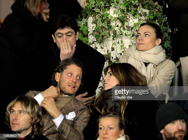 Andrea Agnelli Emma Winter Lapo Elkann and Bianca Brandolini D'Adda during the Serie A match between Juventus FC and FC Internazionale Milano at...
