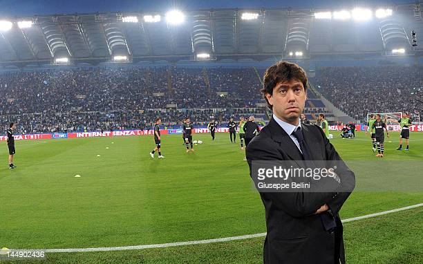 Andrea Agnelli President of Juventus before the Tim Cup final match between Juventus FC and SSC Napoli at Olimpico Stadium on May 20 2012 in Rome...