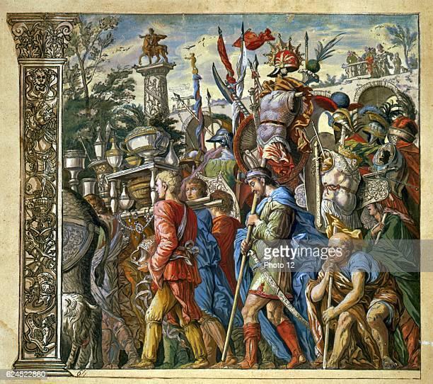 Andrea Andreani Italian school The triumph of Julius Caesar Plate 6 from his 'Triumphus Caesari' Wood engraving