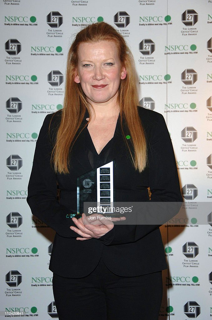 <a gi-track='captionPersonalityLinkClicked' href=/galleries/search?phrase=Andrea+Arnold&family=editorial&specificpeople=606927 ng-click='$event.stopPropagation()'>Andrea Arnold</a> best British Newcomer of The Year during The London Film Critics Circle Awards - Media Room at The Dorchester in London, United Kingdom.