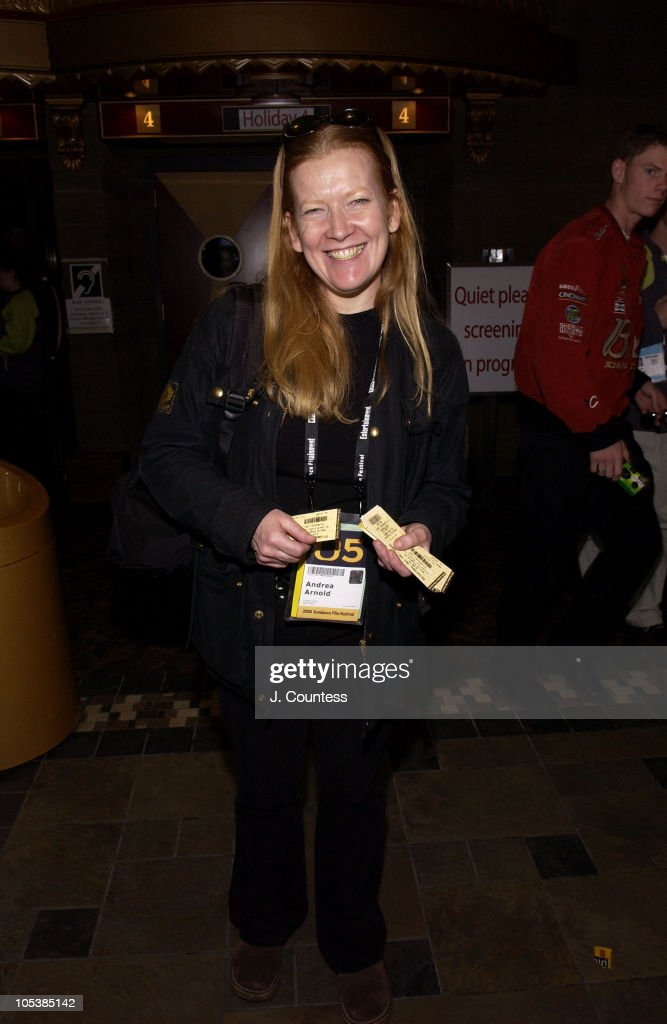 <a gi-track='captionPersonalityLinkClicked' href=/galleries/search?phrase=Andrea+Arnold&family=editorial&specificpeople=606927 ng-click='$event.stopPropagation()'>Andrea Arnold</a>, director of 'Wasp' during 2005 Sundance Film Festival - 'Shorts Program IV' at HVC III in Park City, Utah, United States.