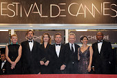 Andrea Arnold Nanni Moretti Emmanuelle Devos Ewan McGregor Jean Paul Gaultier Hiam Abbass and Raoul Peck at the premiere for 'Amour' during the 65th...