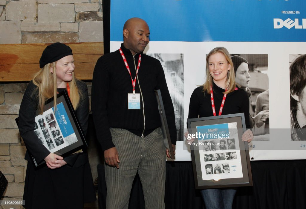 Andrea Arnold, Nelson George and Sarah Polley during 2007 Park City - Variety 10 Directors to Watch at Stein Eriksen Lodge in Park City, Utah, United States.