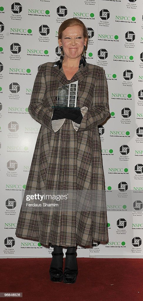 <a gi-track='captionPersonalityLinkClicked' href=/galleries/search?phrase=Andrea+Arnold&family=editorial&specificpeople=606927 ng-click='$event.stopPropagation()'>Andrea Arnold</a> poses in the Winners Room at The London Critics' Circle Film Awards at The Landmark Hotel on February 18, 2010 in London, England.