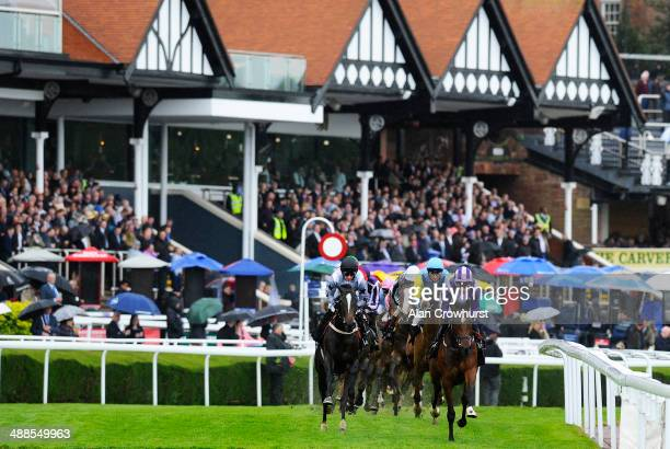 Andrea Atzeni riding Anipa win The Weatherbys Private Banking Cheshire Oaks at Chester racecourse on May 07 2014 in Chester England