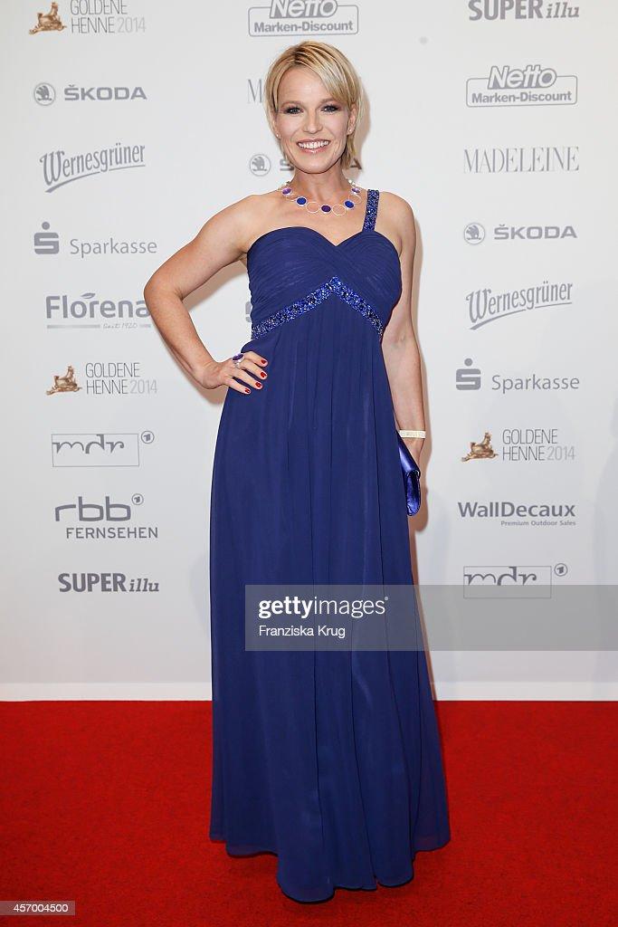 Andrea Ballschuh attends Madeleine at Goldene Henne 2014 on October 10 2014 in Leipzig Germany