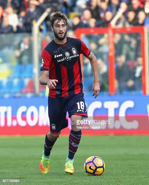 Andrea Barberis of Crotone during the Serie A match between FC Crotone and UC Sampdoria at Stadio Comunale Ezio Scida on November 27 2016 in Crotone...