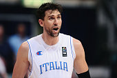 Andrea Bargnani of Italian National Basketball Team looks over during the friendly match between Italy and Philippines at PalaDozza on June 25 2016...