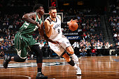 Andrea Bargnani of the Brooklyn Nets handles the ball against the Milwaukee Bucks during the game on November 2 2015 at Barclays Center in Brooklyn...