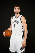 Andrea Bargnani of the Brooklyn Nets poses for a photo during Media Day at the Brooklyn Nets Practice Facility NOTE TO USER User expressly...