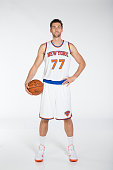 Andrea Bargnani of the New York Knicks poses for a photo during Media Day in New York New York NOTE TO USER User expressly acknowledges and agrees...