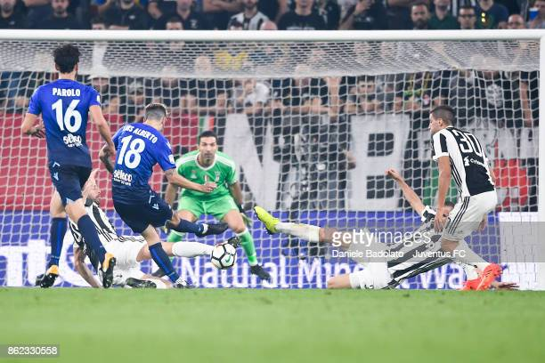 Andrea Barzagli and Giorgio Chiellini during the Serie A match between Juventus and SS Lazio on October 14 2017 in Turin Italy