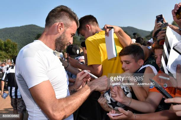 Andrea Barzagli during the preseason friendly match between Juventus A and Juventus B on August 17 2017 in Villar Perosa Italy