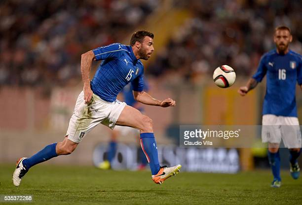 Andrea Barzagli of Italy in action during the international friendly between Italy and Scotland on May 29 2016 in Malta Malta