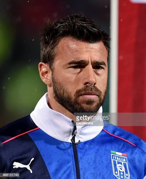 Andrea Barzagli of Italy prior to the Euro 2016 Qualifier match between Bulgaria and Italy at Vasil Levski National Stadium on March 28 2015 in Sofia...