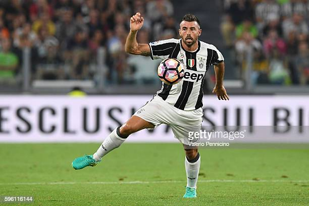 Andrea Barzagli of Juventus FC controls the ball during the Serie A match between Juventus FC and ACF Fiorentina at Juventus Arena on August 20 2016...