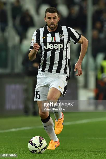 Andrea Barzagli of Juventus FC in action during the Serie A match between Juventus FC and Empoli FC at Juventus Arena on April 4 2015 in Turin Italy