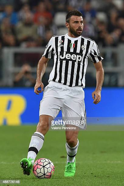 Andrea Barzagli of Juventus FC in action during the Serie A match between Juventus FC and AC Chievo Verona at Juventus Arena on September 12 2015 in...