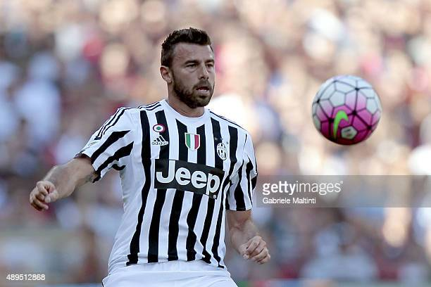Andrea Barzagli of Juventus FC in action during the Serie A match between Genoa CFC and Juventus FC at Stadio Luigi Ferraris on September 20 2015 in...
