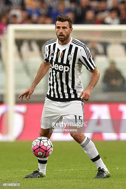 Andrea Barzagli of Juventus FC in action during the Serie A match between Juventus FC and Bologna FC at Juventus Arena on October 4 2015 in Turin...