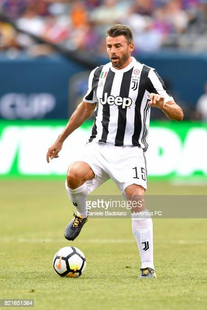 Andrea Barzagli of Juventus in action during the International Champions Cup match between Juventus and Barcelona at MetLife Stadium on July 22 2017...