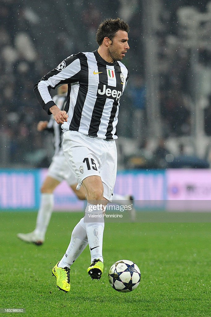 Andrea Barzagli of Juventus in action during the UEFA Champions League round of 16 second leg match between Juventus and Celtic at Juventus Arena on March 6, 2013 in Turin, Italy.