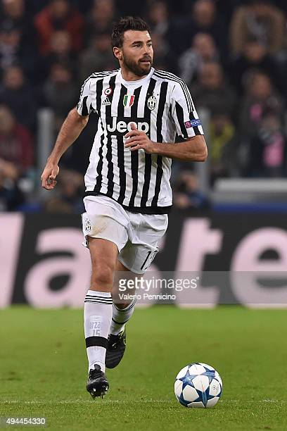 Andrea Barzagli of Juventus in action during the UEFA Champions League group stage match between Juventus and VfL Borussia Moenchengladbach at...